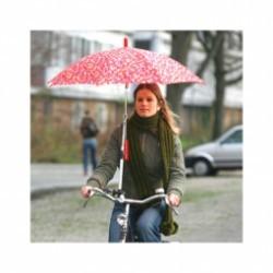 Fixation parapluie sur guidon de velo .
