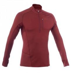 T-shirt manches longues trekking Forclaz 900 wool homme marron