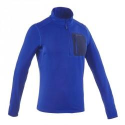 T-Shirt manches longues de randonnée neige homme SH500 active chaud blue