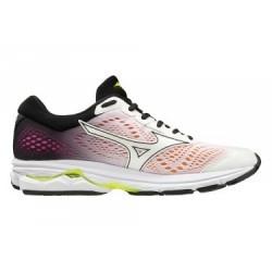 Chaussures de Running Femme Mizuno Wave Rider 22 Blanc / Orange