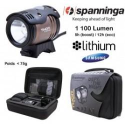 Eclairage avant velo SPANNINGA 1100 lumens couleur noir