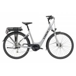 Vélo de Ville Électrique Trek TM2+ Lowstep 300W Shimano Alivio/Acera 9V Gris / Noir 2019