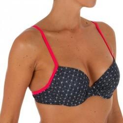 Haut de maillot de bain femme corbeille avec coques léger push up ELO MOSAICA
