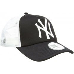 CASQUETTE ADULTE-88210  adulte NEW ERA MLB CLEAN TRUCK NY BLK WHITE
