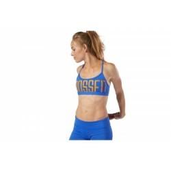 Brassière Reebok CrossFit Skinny Graphic Bleu