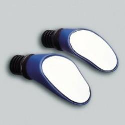 SPRINTECH paire de rétroviseur couleur bleu fixation insertion guidon