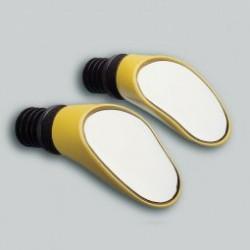 SPRINTECH paire de rétroviseur couleur jaune fixation insertion guidon