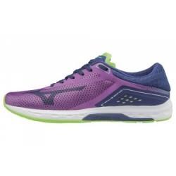Chaussures de Running Femme Mizuno Wave Sonic Violet / Bleu