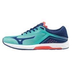 Chaussures de Running Femme Mizuno Wave Sonic Bleu / Bleu