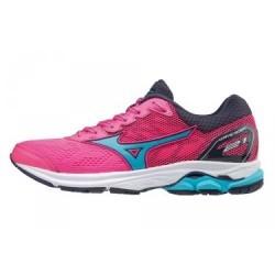 Chaussures de Running Femme Mizuno Wave Rider 21 Rose / Bleu