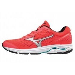 Chaussures de Running Femme Mizuno WAVE RIDER 22 Orange / Argent