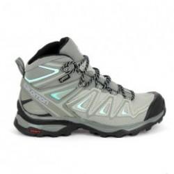 Chaussure de runningRando - Trail SALOMON X Ultra 3 Mid GTX Gris Bleu