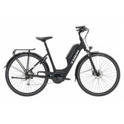 Vélo de Ville Électrique Trek TM2+ Lowstep DT 300 Shimano Alivio/Acera 9V Noir / Blanc 2019