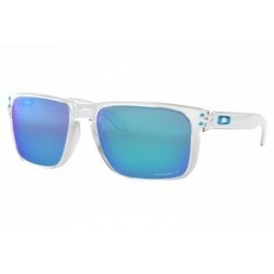 Lunettes Oakley Holbrook XL Polished Clear / Prizm Sapphire Polarized / Ref. OO9417-0759