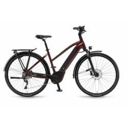 Vélo de Ville Femme Electrique 2018 Winora Sinus i10 Shimano SLX 10V Rouge