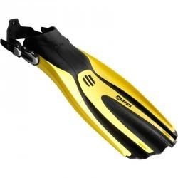 Palmes de plongée bouteille réglables AVANTI TRE SUPERCHANNEL ABS jaunes noires