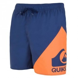 Boardshort court QUIKSILVER Wave Blue Orange