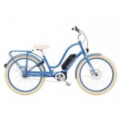 Vélo de Ville Électrique Electra Townie Go! 8i Shimano Nexus 8V Bleu / Beige 2019