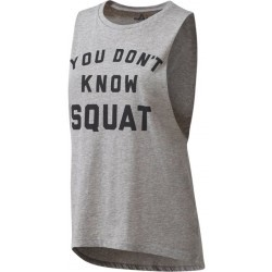 DEBARDEUR Fitness femme REEBOK DONT KNOW SQUAT TAN
