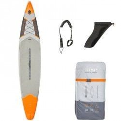 "STAND UP PADDLE GONFLABLE RANDONNEE COURSE 500 / 12'6-29"" ORANGE"