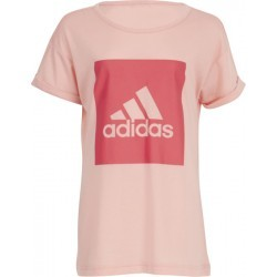 1085N-TEXT MS TSHIRT MC FI  fille ADIDAS YG LOGO LOOSE T