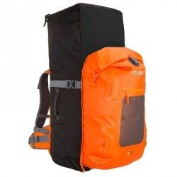 SAC A DOS  STAND UP PADDLE RANDONNEE 500 / 100L+40L ETANCHE ORANGE