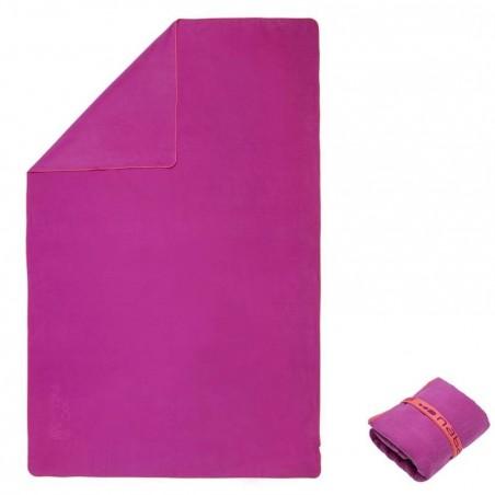Serviette microfibre violet ultra compacte taille XL 110 x 175 cm