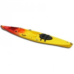 KAYAK RIGIDE RANDONNEE TEMPO 1 PLACE ORANGE