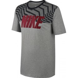 1016N-TEXT MS TSHIRT MC H  homme NIKE M NSW TEE RAG SWSH PLS BLK