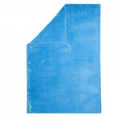 Serviette microfibre bleu ultra douce taille XL 110 x 175 cm