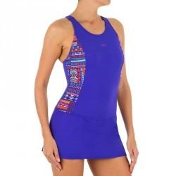 Maillot de bain de natation femme une pièce Vega bleu ni orange