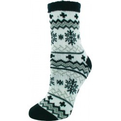 CHAUSSETTE  adulte YAKTRAX CABIN SOCKS BLACK/GREY