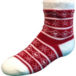 YAKTRAX CABIN SOCKS JR RED