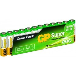 PILES   GP BATTERIE PACK 10 + 2 AA