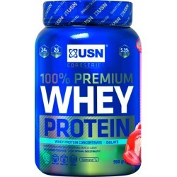 DEVELOPPEMENT MUSCULAIRE   USN NUTRITION WHEY PROTEIN SRAWBERRY 908 GR