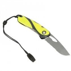 Couteau marin WICHARD démanilleur épissoir noir/jaune
