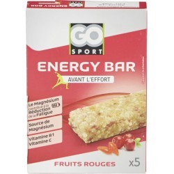 BARRES ENERGISANTES   GO SPORT BARRE FRUIT ROUGES 5X20G