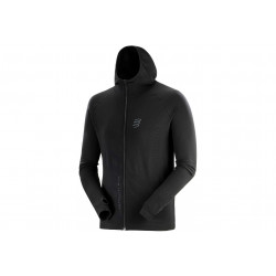 Compressport 3D Thermo Seamless Hoodie Black Edition 2020 M vêtement running homme