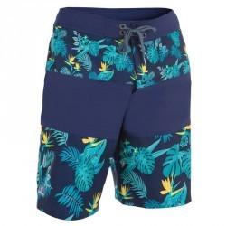 Boardshort long homme Guethary flower bleu