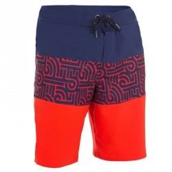 Boardshort long homme Guethary Graf rouge