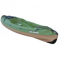 Kayak de pêche Bilbao Fishing vert 1 place + DOSSERET