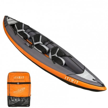 CANOE KAYAK GONFLABLE 2/3 PLACES ORANGE