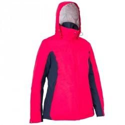 Veste chaude bateau femme 100 rose / bleu marine