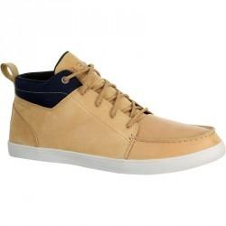 Chaussures bateau cuir homme KOSTALDE beige camel