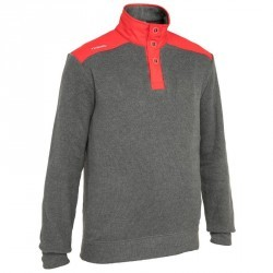 Pull bateau homme CRUISE gris / rouge