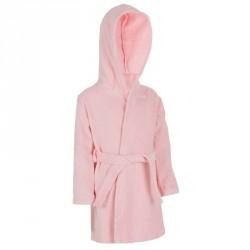 Peignoir coton éponge baby rose avec ceinture et capuche