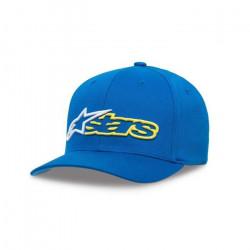 Alpinestars Casquette Flexfit avec visiére incurvée, Couronne structurée, Logo brodé 3D Homme, reblaze Curve Hat Blue/White