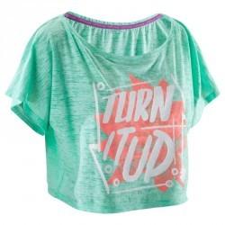 T shirt court danse femme vert menthe.