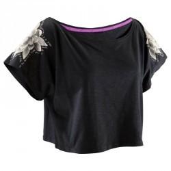 T shirt court danse femme noir.
