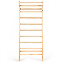 DREAMADE Espalier bois, bois de pin, espalier avec capacité portante max 150kg, échelle suédoise, pour gym fitness complexe